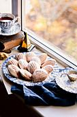 Fall Spiced Madeleines with Maple Glaze