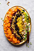 Buttery Bejeweled Rice with nuts and dry fruits