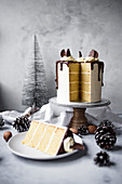 Christmas Chocolate Orange Layer Cake With Orange Buttercream And Dark Chocolate Ganache