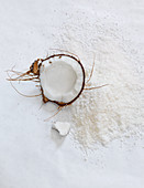 Coconuts and grated coconut