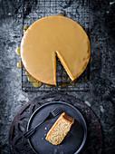 Brown butter hazelnut cake