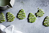 Gluten-Free White Chocolate Matcha Shortbread Cookies