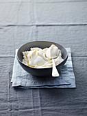 Mascarpone in a grey bowl