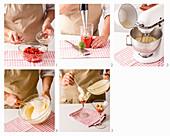 Erdbeertiramisù im Martiniglas zubereiten