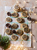 Fig and rosemary spirals