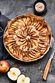Apple pie with cinnamon sugar