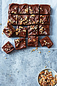 Baileys chocolate and walnut microwave brownies