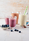Berry smoothies with blueberries
