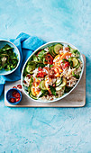 Warm Vietnamese coconut rice salad