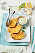 Lemon cutlets with parsley sauce