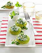 Broad bean tartlets with ricotta and peppermint