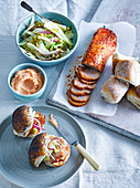 Paprika pork sliders with quince aïoli and fennel slaw