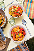 Pepper and sweet potato stew