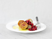 Pitepalt - dumplings stuffed with cranberries (Sweden)