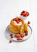 Savarin with strawberry salad