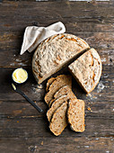 Wheat beer bread with onions