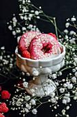 Raspberry donuts
