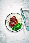 Hähnchen Adobo mit Reis