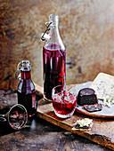 Sloe gin cheese, blackberry whisky and elderberry vinegar