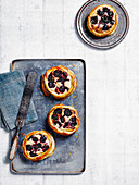Cherry jam and almond galettes