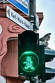 Karl-Marx traffic light, Trier, Rhineland-Palatinate, Germany
