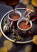 Mulled Hot Chocolate (Heiße Schokolade mit Glühwein)