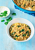 Sweetcorn and Spinach Dhal