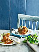 Ofenkartoffeln mit Chilli con Carne