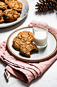 Gingerbread Cookies and a glass of milk