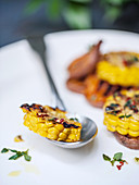 Grilled corn with herbs and chilli