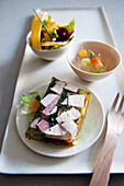 Colourful terrine with pork and ham