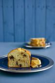 Ricotta cake with nougat