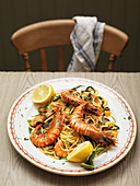Linguini with Prawn Lemon Sauce