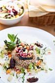 A Syrian dish with rice, 'Saliba' restaurant, Hamburg