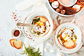 Cilbir – fashionable breakfast from turkey with poached egg
