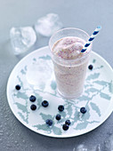 Blueberry and fig smoothie