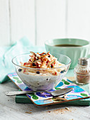 Bircher muesli with oats and apples