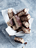 Chocolate and coconut amaranth bars
