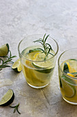 Zitronen-Limetten-Limonade mit Rosmarin