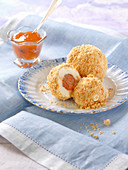 Ice cream apricot dumplings
