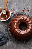 Viennese chocolate Bundt cake