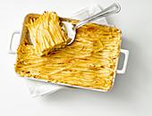 Bassotti romagnoli al forno (egg noodle bake, Italy)