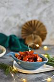 Herring in tomato sauce for Christmas