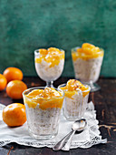 Vanillia rice with clementines and cardamom