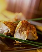 Fish nuggets (close-up)