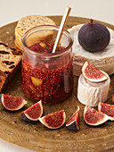 Fig jam and goat's cheese