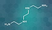 Triethylenetetramine drug molecule, illustration