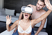 Virtual reality cybersex, conceptual image