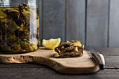 Pickled artichoke hearts