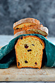 Carrot loaf with cranberries